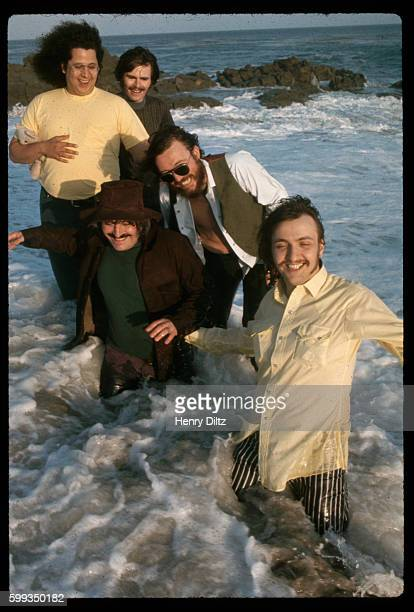 The tide comes in for the 1960s folkrock band The Turtles after they became popular for their number 1 hit Happy Together posing at Leo Carillo Beach...