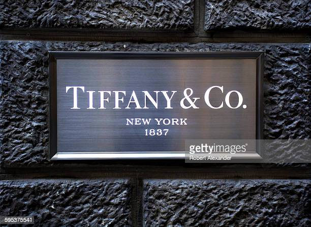 The Tiffany & Company luxury jewelry store in Florence, Italy, is inside a historical 17th century building on Via Tornabuoni.