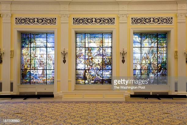 The Tiffany Stained Glass Windows at the National Red Cross Headquarters on August 8, 2012 in Washington DC