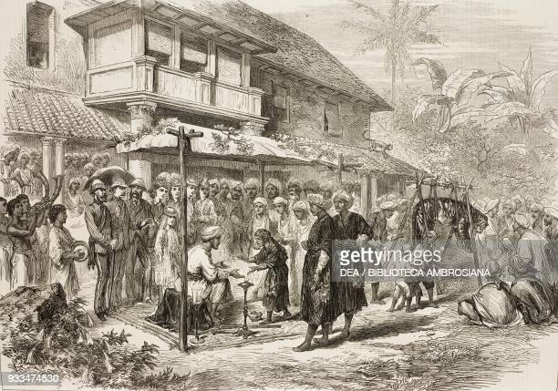 The tiger wedding ceremony in Kodagug India illustration from the magazine The Illustrated London News volume LXIII December 6 1873