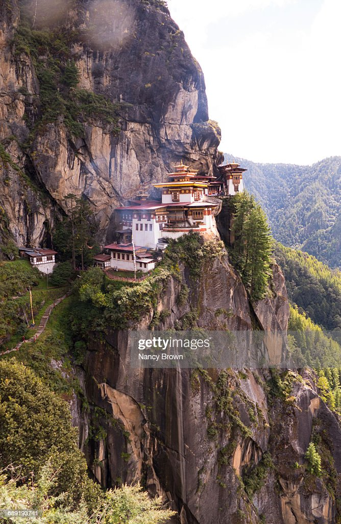 The Tigers Nest Monastery in Himalayans in Bhutan. : Stock Photo