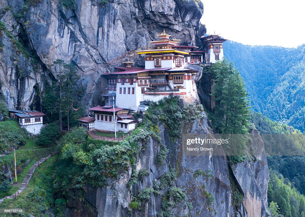 The Tigers Nest Monastery in Himalayans in Bhutan : Stock Photo