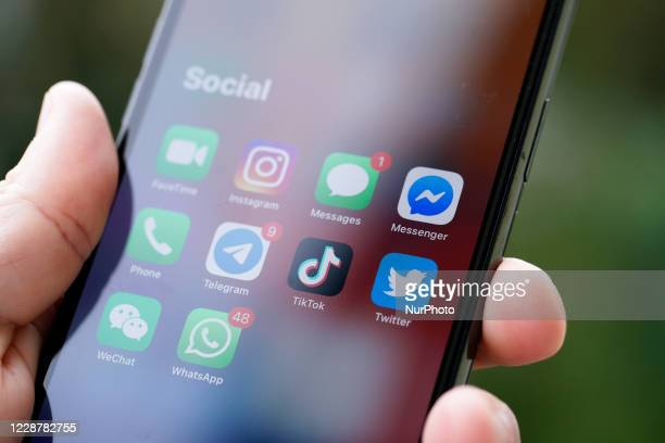 The TikTok application is seen on an iPhone 11 Pro max in this photo illustration in Warsaw, Poland on September 29, 2020. The TikTok app will be...