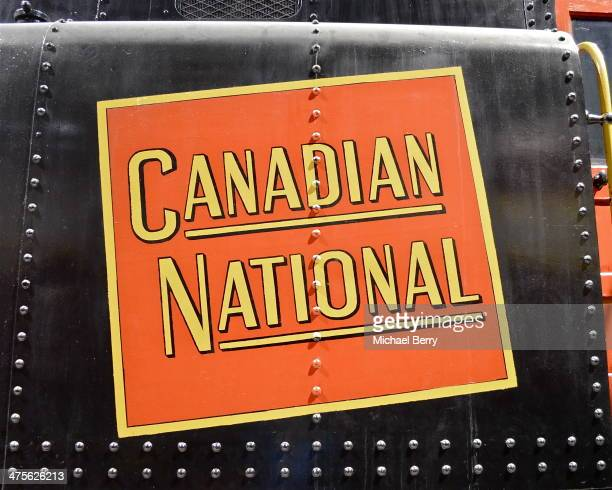 The 'tilted wafer' logo is seen on CN 77, one of CN's first diesel. It is preserved at Exporail in St-Constant, Quebec.