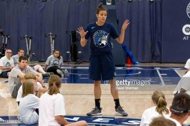 The Timberwolves and Lynx Basketball Academy host a Lynx Fit Clinic on June 27 2019 at the Minnesota Timberwolves and Lynx Courts at Mayo Clinic...