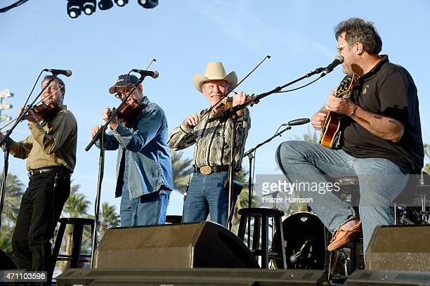 The Time Jumpers perform onstage during day one of 2015 Stagecoach California's Country Music Festival at The Empire Polo Club on April 24 2015 in...
