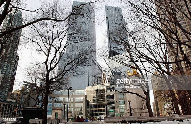 The Time Warner Center seen from Central Park February 5 2004 in New York City The center which officially opened today is comprised of 28 million...