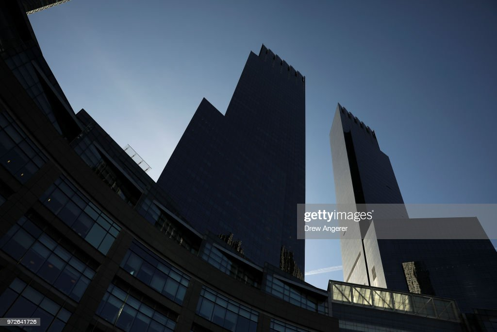 The Time Warner Center stands in Columbus Circle, June 12, 2018 in New York City. A federal judge today said that AT&T can move forward with its $85 billion acquisition of Time Warner, which the U.S. Justice Department had sought to block.