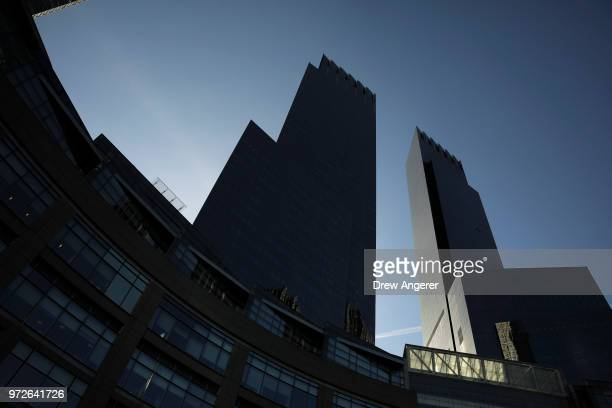 The Time Warner Center stands in Columbus Circle June 12 2018 in New York City A federal judge today said that ATT can move forward with its $85...