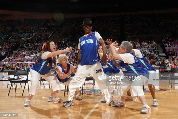 The Timeless Torches perform at the New York Liberty game against the Chicago Sky on May 20 2007 at Madison Square Garden in New York City NOTE TO...