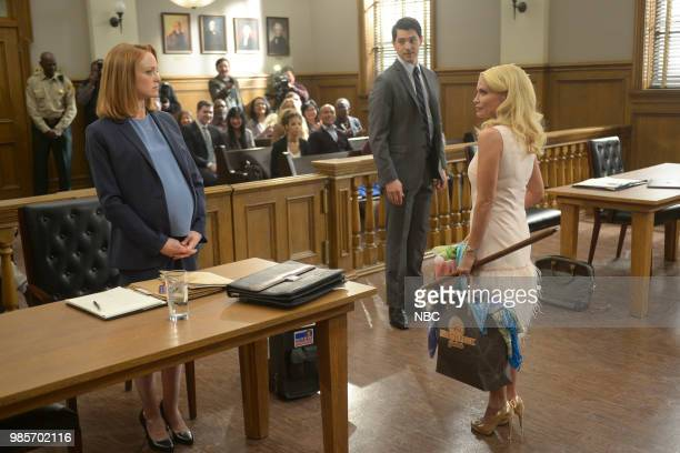 LADY KILLER 'The Timeline' Episode 202 Pictured Jayma Mays as Carol Anne Keane Nicholas D'Agosto as Josh Segal Kristin Chenoweth as Lavinia PeckFoster