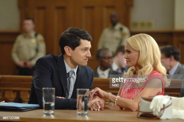 LADY KILLER 'The Timeline' Episode 202 Pictured Nicholas D'Agosto as Josh Segal Kristin Chenoweth as Lavinia PeckFoster