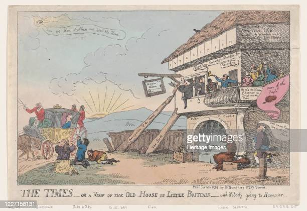 The Times - Or A View Of The Old House In Little Brittain - With Nobody Going To Hannover, January 23, 1784. Artist Thomas Rowlandson.