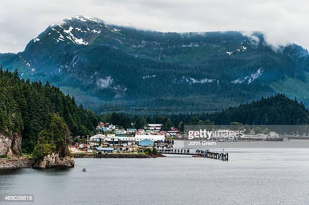 The Tinget town of Hoonah, Chichagof Island, Icy Strait.