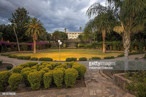 The Tintenpalast Goverment Building and National Symbol of Namibia in Windhoek With Famous Parliament Gardens in Robert Mugabe Avenue