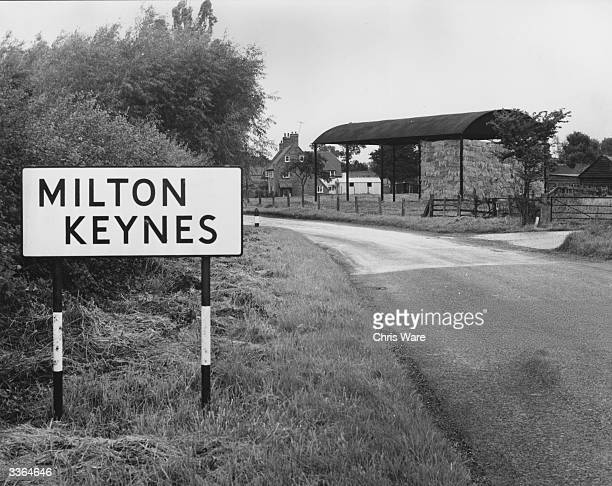 The tiny village of Milton Keynes in Buckinghamshire, which is to be developed into Britain's first new town.