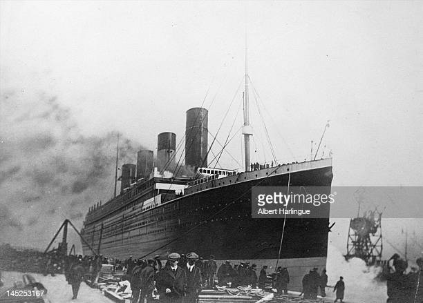 The 'Titanic' a passenger ship of the White Star Line that sank in the night of April 1415 1912