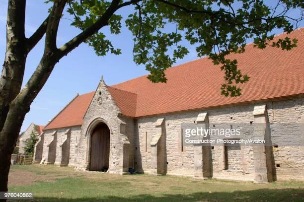 The Tithe Barn in Pilton Somerset restored by Glastonbury Rock Festival Founder Michael Eavis