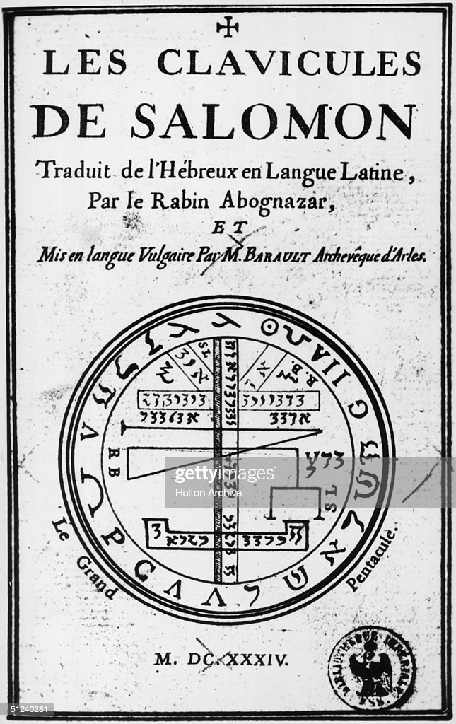 1634 The Title Page Of Les Clavicules De Salomon Published In News Photo Getty Images
