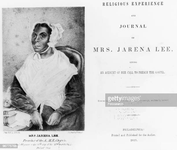 The Title Page of Religious Experience and Journal of Mrs Jarena Lee circa 1849