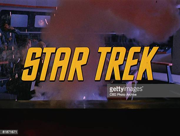 The title screen from 'The Man Trap' the premiere episode of 'Star Trek' shows an explosion on the bridge of the Starship Enterprise The episode...