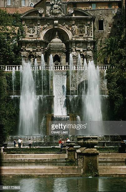 The Tivoli Fountain in Rome Italy