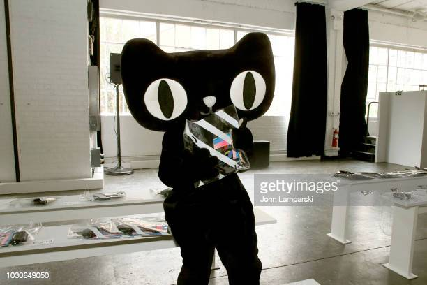 The Tmall cat poses at the Angel Chen show during New York Fashion Week The Shows at Industria Studios on September 10 2018 in New York City