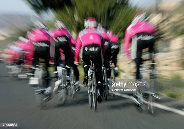 The T-Mobile men's team cycles during the T-Mobile training camp on January 14, 2007 in Mallorca, Spain.