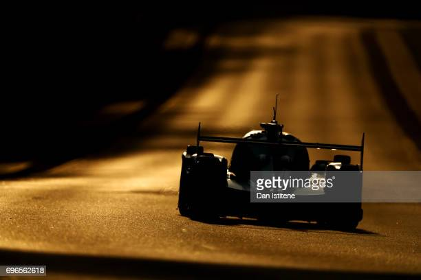 The Tockwith Motorsport Ligier of Karun Chandhok Philip Hanson and Nigel Moore drives during qualifying for the Le Mans 24 Hour Race at Circuit de la...
