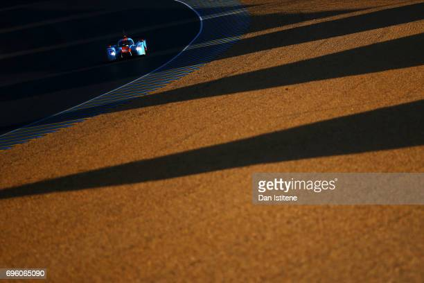The Tockwith Motorsport of Nigel Moore Philip Hanson and Karun Chandhok drives during practice for the Le Mans 24 Hour Race at Circuit de la Sarthe...