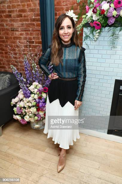 The TODAY Show's Lilliana Vazquez hosts a private floral accessories event alongside Bronwen Smith of B Floral in NYC on January 17 2018 in New York...