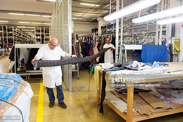 The Tod's factory is photographed for Le Figaro Magazine on July 29, 2014 in Casette d'Ete, Italy. Some employees work at Tod's for decades. CREDIT...