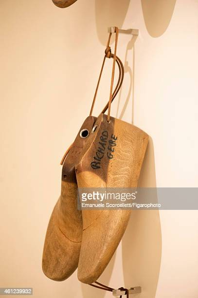 The Tod's factory is photographed for Le Figaro Magazine on July 29, 2014 in Casette d'Ete, Italy. Richard Gere's shoe forms. PUBLISHED IMAGE. CREDIT...