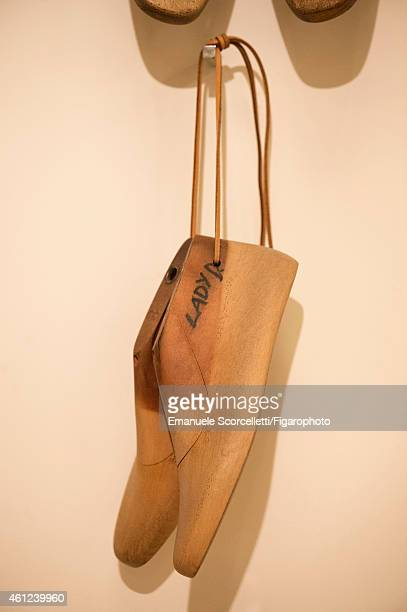 The Tod's factory is photographed for Le Figaro Magazine on July 29, 2014 in Casette d'Ete, Italy. Princess Diana's shoe forms. CREDIT MUST READ:...