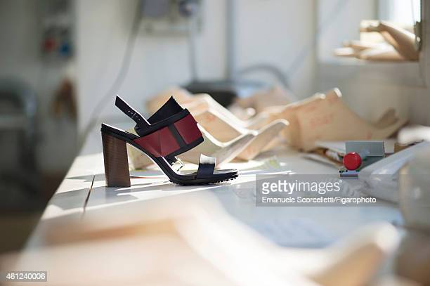 The Tod's factory is photographed for Le Figaro Magazine on July 29, 2014 in Casette d'Ete, Italy. Diego Della Valle expanded his empire by buying...