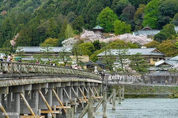 The Togetsukyo Bridge at Arashiyama, Kyoto, Japan.