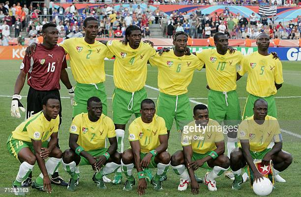 The Togo team line up during the FIFA World Cup Germany 2006 Group G match between Togo and France at the Stadium Cologne on June 23 2006 in Cologne...
