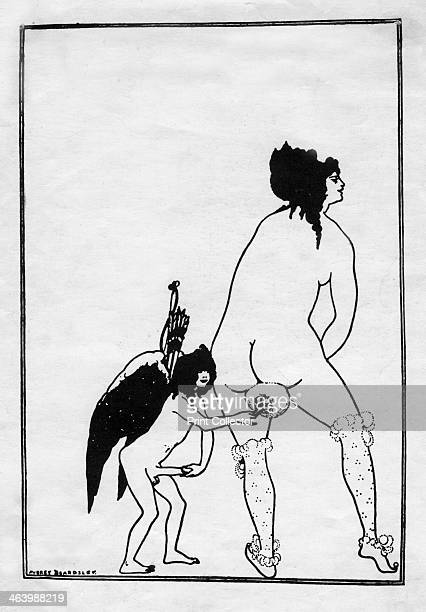 'The Toilet of Lampito' 1896 Illustration from Lysistrata by Aristophanes