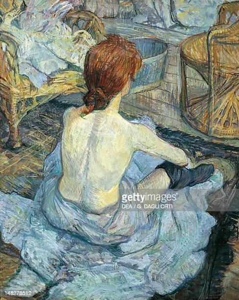 The toilette by Henri de Toulouse Lautrec oil on cardboard 67x54 cm Paris Musée D'Orsay