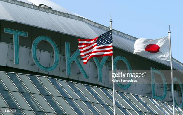 The Tokyo Dome is seen March 28, 2004 in Tokyo, Japan. Exhibition games and the season opening games for the New York Yankees and Tampa Bay Devil...