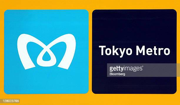 The Tokyo Metro Co logo is displayed on the company's 1000 series subway train at the Nakano train yard in Tokyo Japan on Wednesday Oct 5 2011...