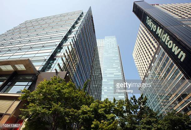 The Tokyo Midtown, which houses the Fujifilm Holdings Corp. Headquarters, stands in Tokyo, Japan, on Tuesday, Aug. 17, 2010. The new 3-D digital...
