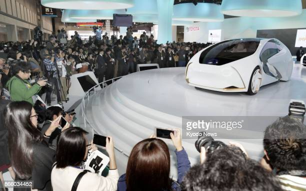 The Tokyo Motor Show opens to the press on Oct 25 at Tokyo Big Sight with automakers showcasing ecofriendly cars amid tighter emissions regulations...