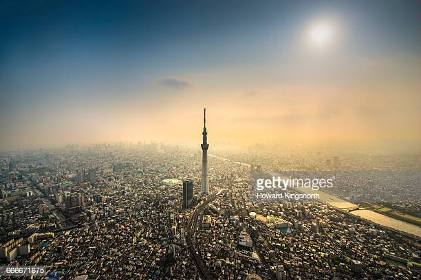 The Tokyo Skytree Tower from the air