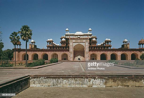 The Tomb of Akbar the Great in Sikandra a suburb of Agra in Uttar Pradesh India circa 1965 It was built in the 17th century for the third Mughal...