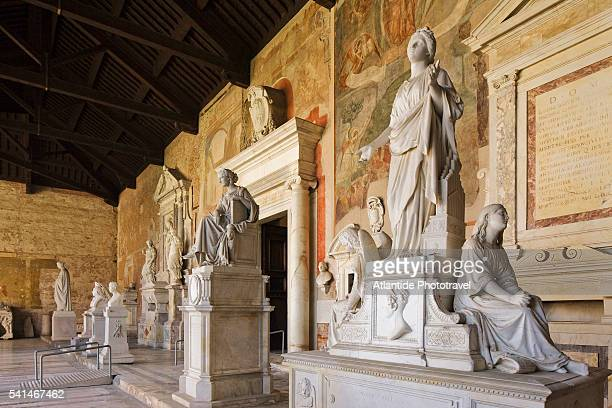 The tomb of Angelica Catalani and other tombs in the Eastern Gallery Camposanto Monumentale, Piazza dei Miracoli, Pisa, Italy