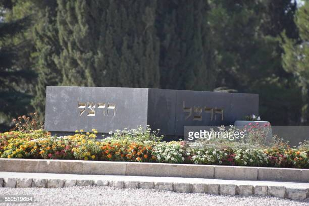 the tomb of benjamin ze'ev herzl , jerusalem, israel - mount herzl stock pictures, royalty-free photos & images