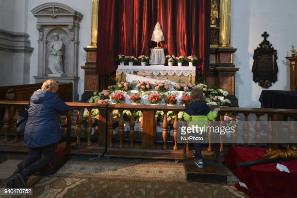 The tomb of Christ in the Church of Saints Peter and Paul in Krakow On Good Friday as every year the tombs of the Lord were unveiled in all the...