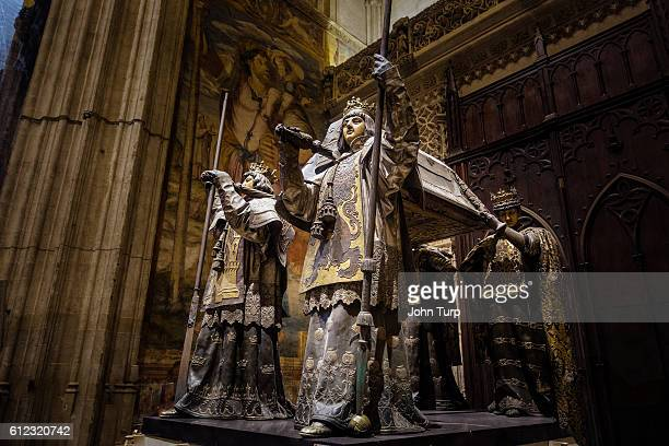 The Tomb of Christopher Columbus, Seville Cathedral.