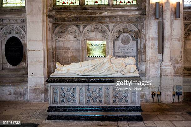 The tomb of Hadyn Keeton a cathedral organist buried inside Peterborough cathedral one of the finest Norman cathedrals in England Founded as a...